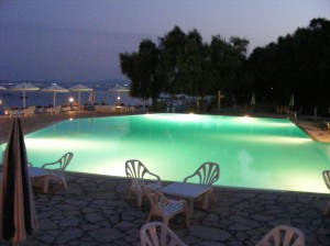 What an amazing view of Nassaki Hotel pool