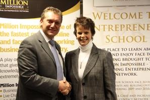 Bradley Chapman and Anne Milton MP Shadow Health Minister